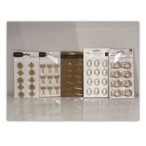 BNIP 5 Pack of Gold Specialty Paper & Binder Clips